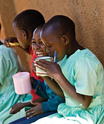 Children eating nutritional food
